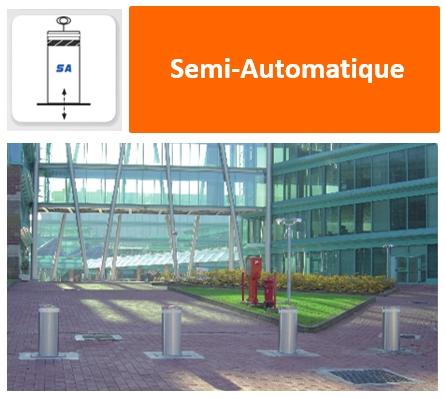 Bornes Escamotables Semi-Automatique